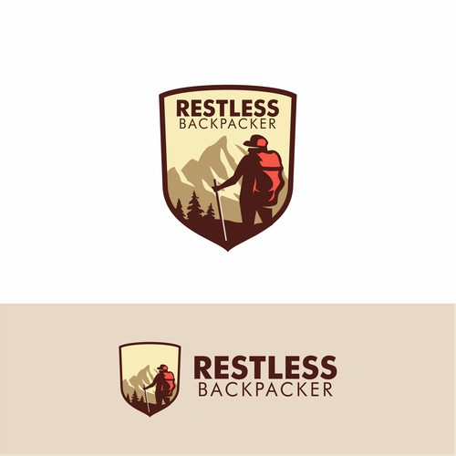 Bold logo concept for Restless Backpacker