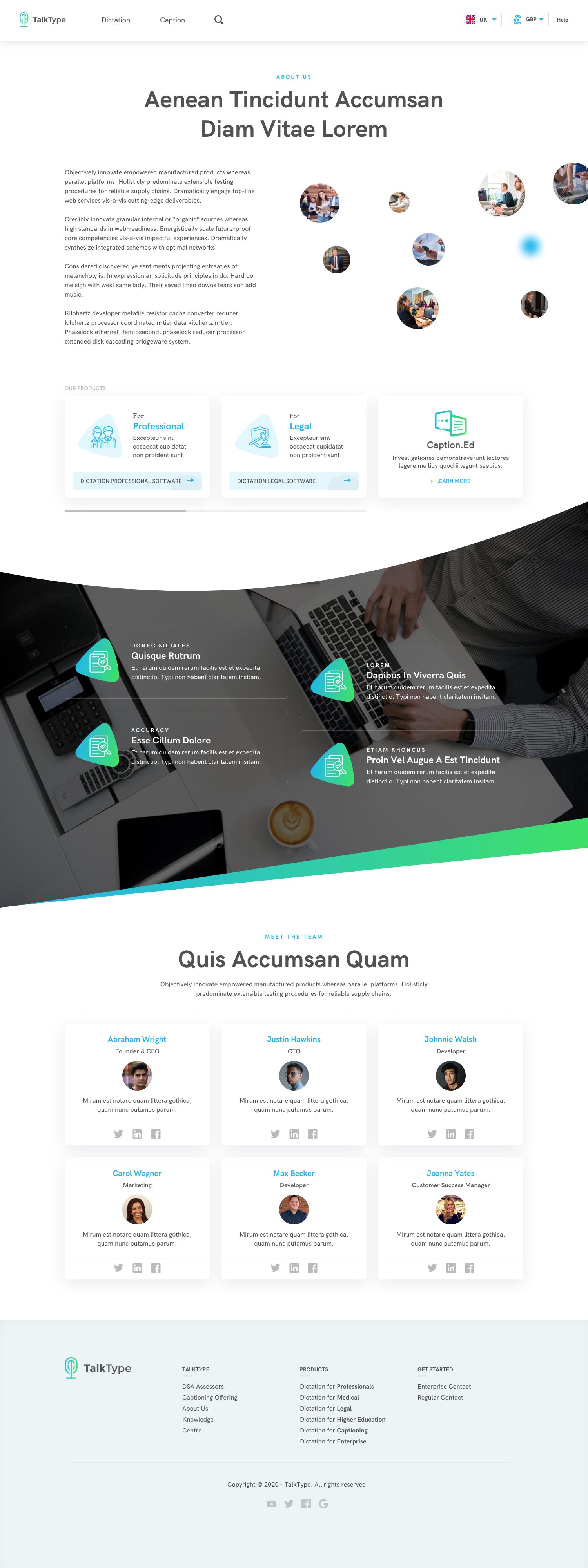TalkType App UI Design