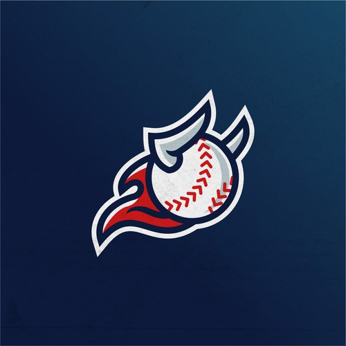 Flaming baseball+bull logo for a Youtube coaching channel