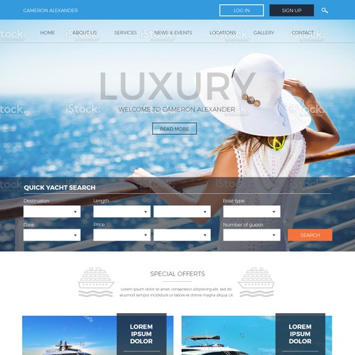 Yacht charter business, creating tailored dream vacations around the world.