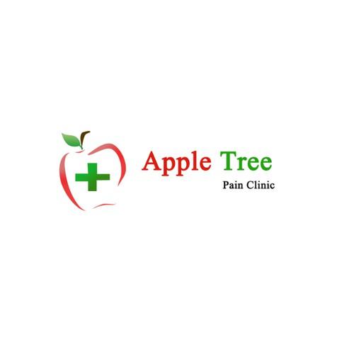 Create a logo for Apple Tree Pain Clinic