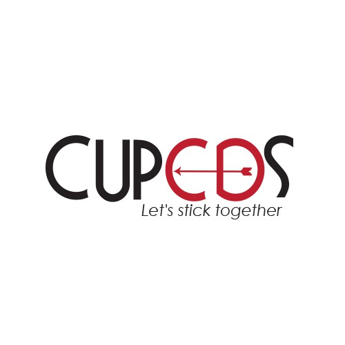 Create a modern and clean logo for Cupeds, a new shoe pad product.