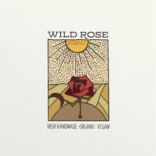 Wild Rose Botanicals Retro Logo