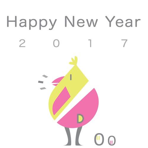 2017 Happy New Year Card Design