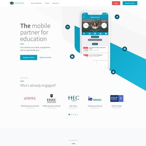 Modern digital design for an educational app