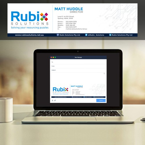 Email Signature Design for Rubix Solutions