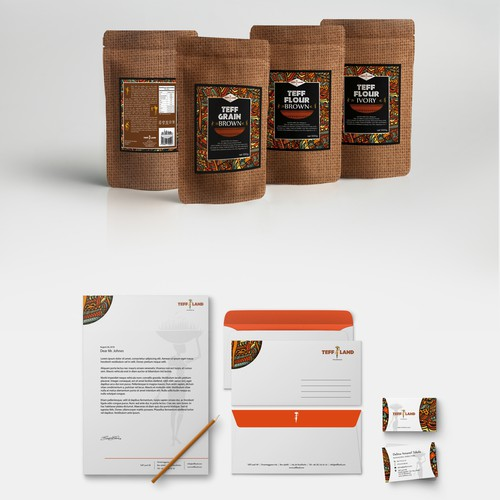 Brand identity for teff importer