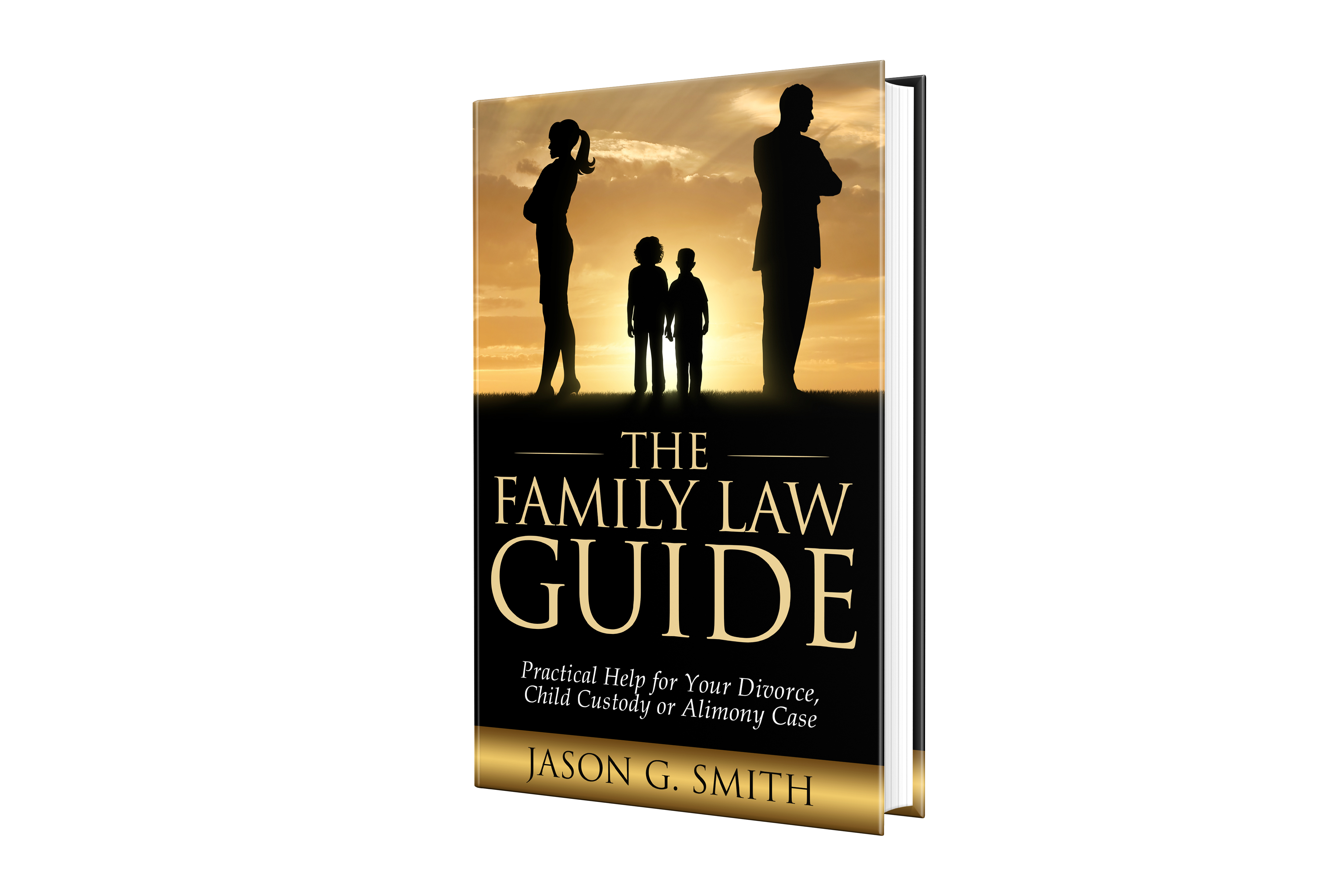 Design a catchy, colorful book cover for divorce attorney.