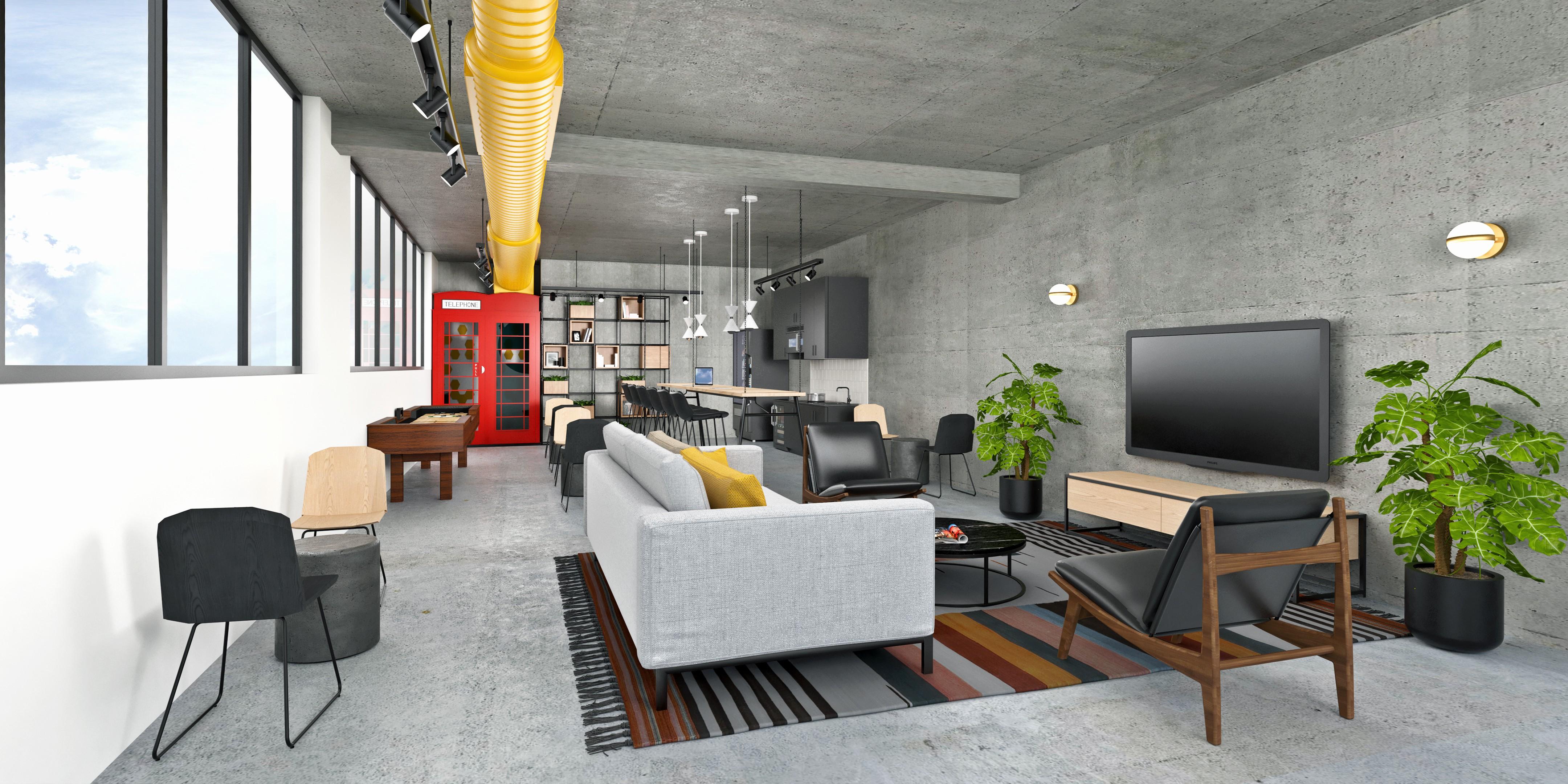 Luxury Apartment Building needs Amenity Space Renderings