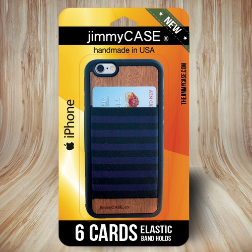 Create jimmyCASE iPhone Wallet Case Packaging www.thejimmycase.com