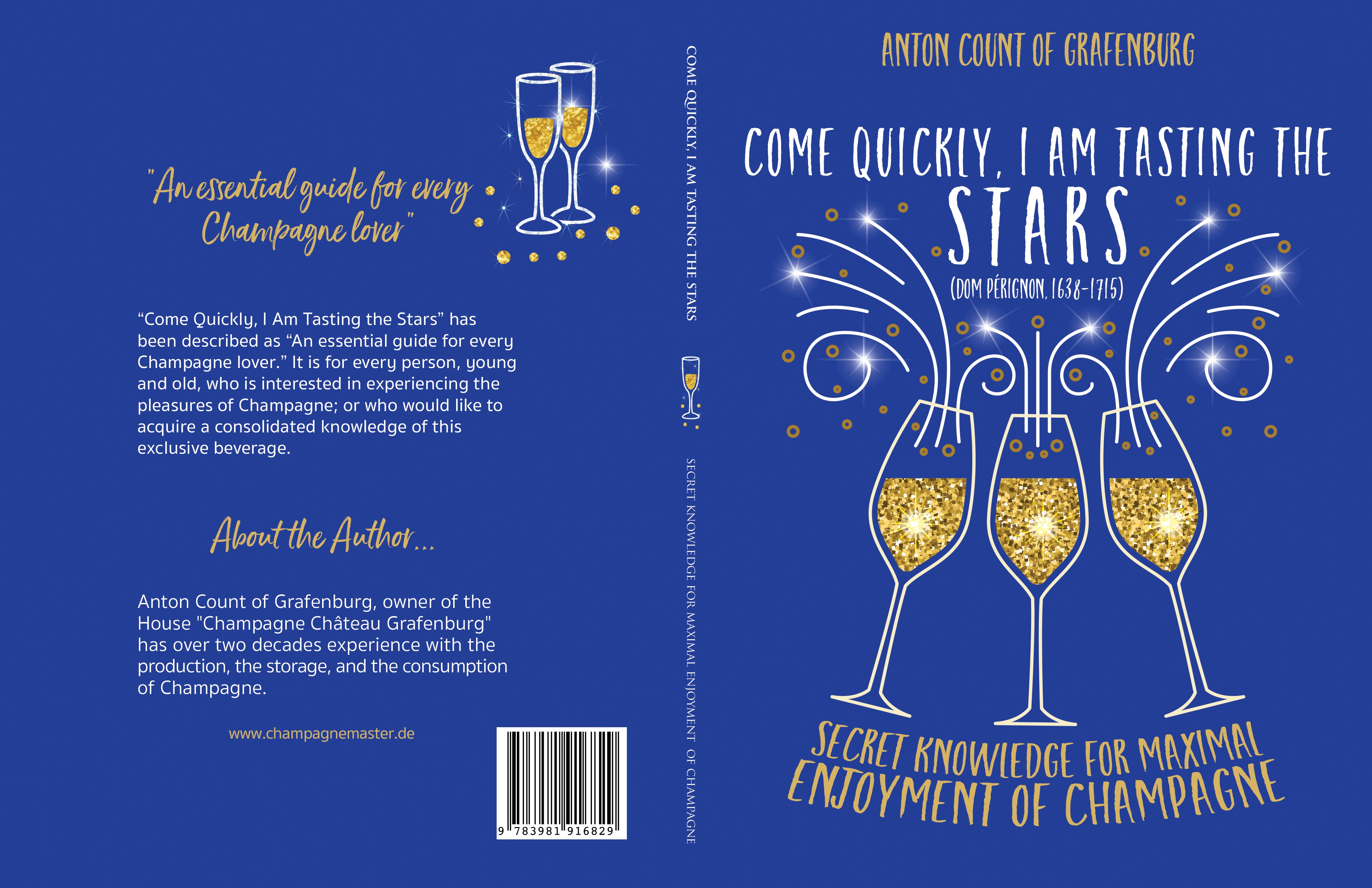Create a cover showing the pleasures of Champagne