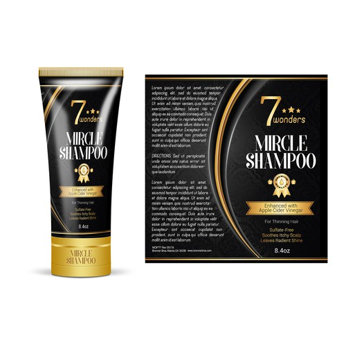 Shampoo Label Design