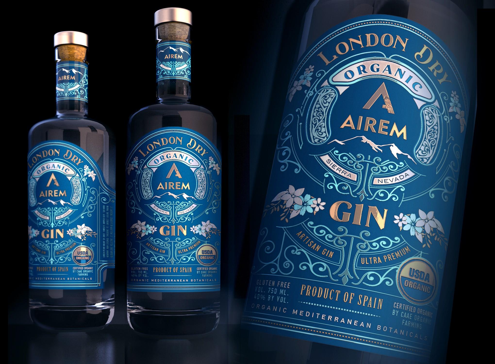 etiqueta de producto para Gin Ultra Premium Ecológico