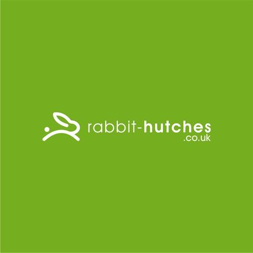 modern minimalist iconic logo for Rabbit Hutches