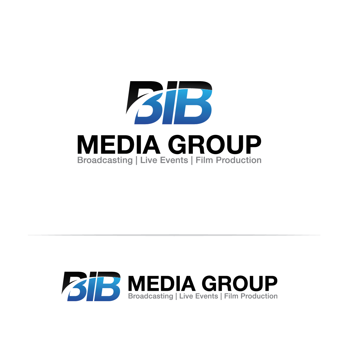 """Creative 3D """"Because I Believe Logo"""" for an Media & Entertainment company"""