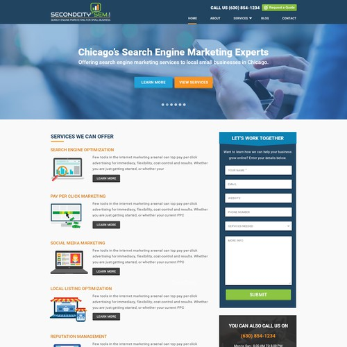 Website Design for Search Engine Marketing Company in Chicago - SecondCitySEM