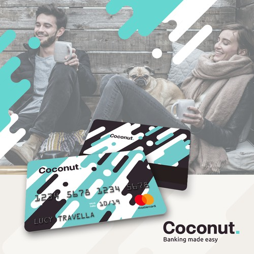 Eye-catching credit card design