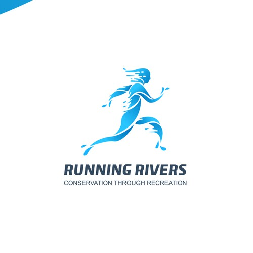running rivers concept logo.