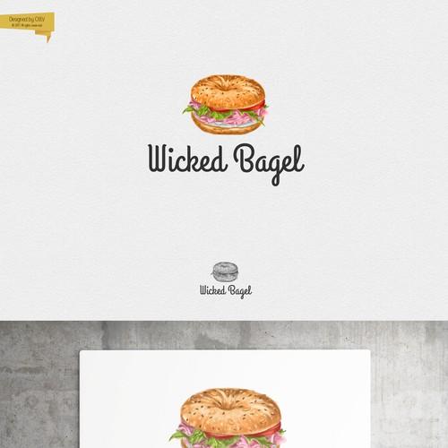 Logo design for bagel bakery