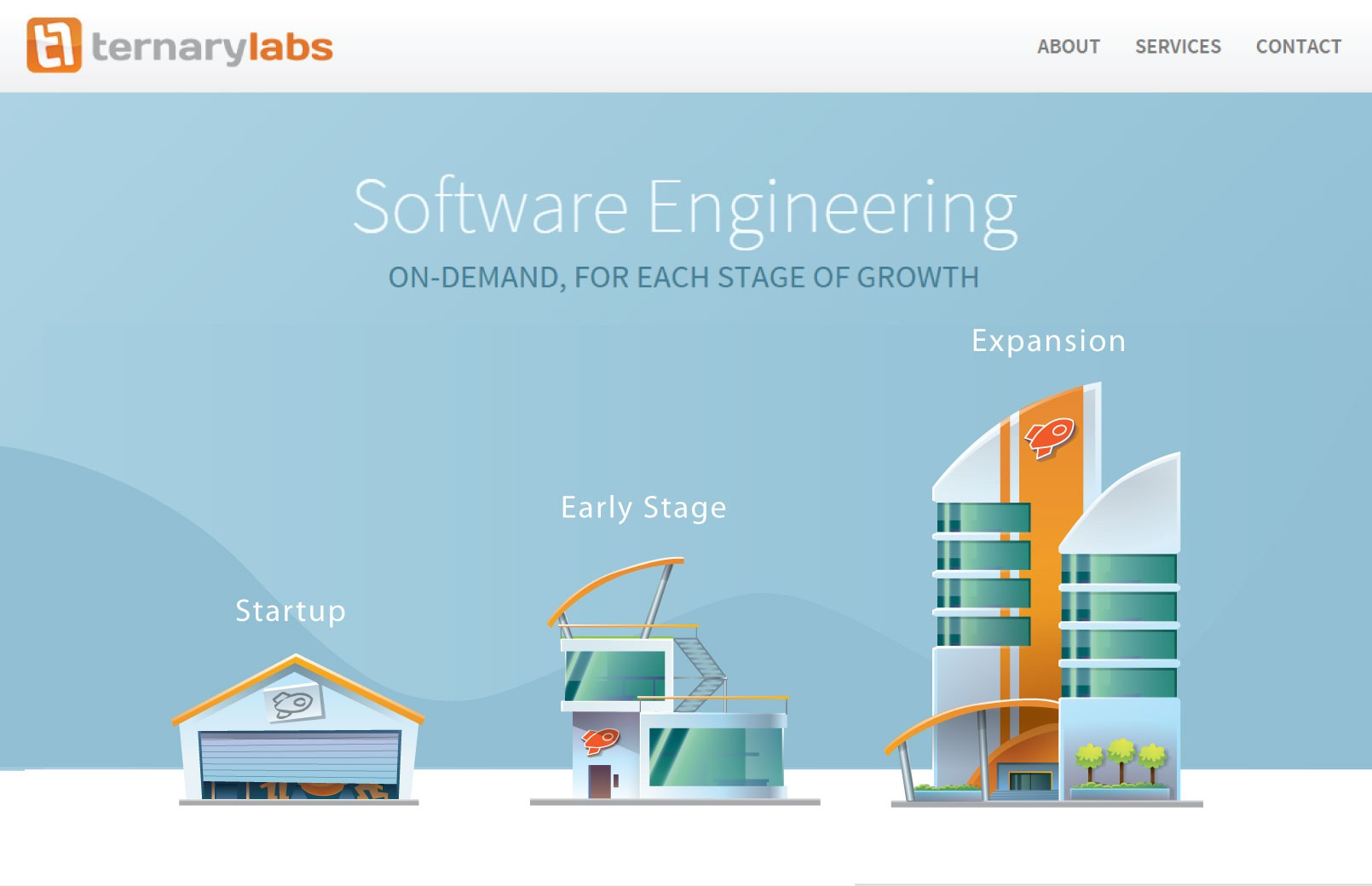 Create spaceship making startup illustrations for Ternary Labs