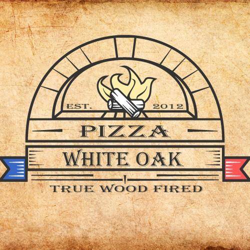 logo for White Oak Wood Fired Pizza