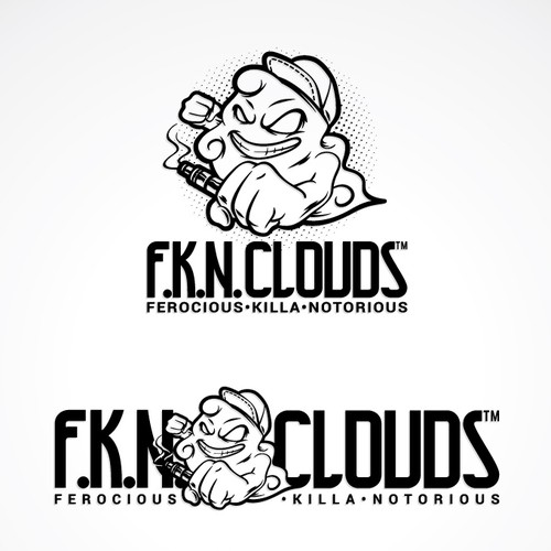 Character Logo of Cloud Chasing (Personal Vaporizer)