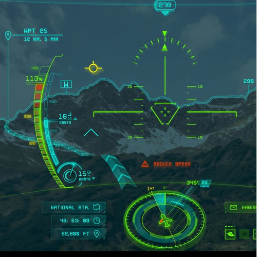 VR Head-Up Display (HUD) UI Design for an Aircraft