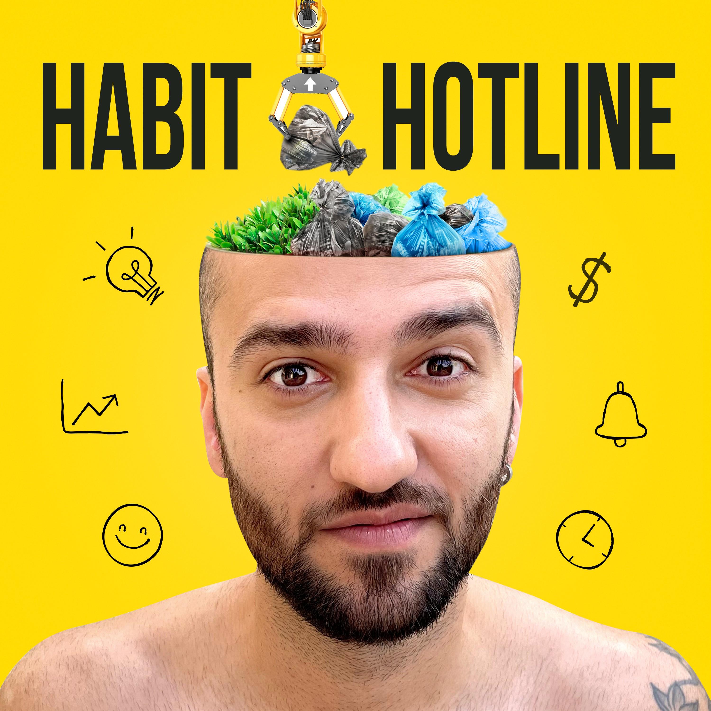 A podcast album cover for personal development.