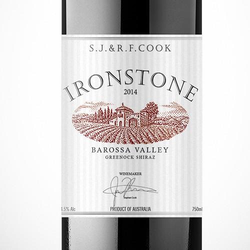 Label design for new premium wine release