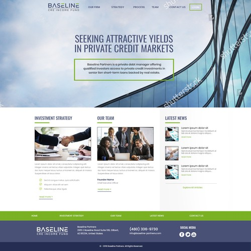 Private Equity firm website redesign