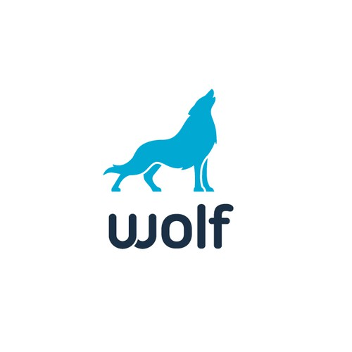 Flat wolf Apps logo