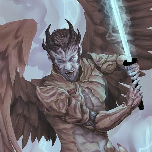 Fantasy Heavenly Demon Illustration