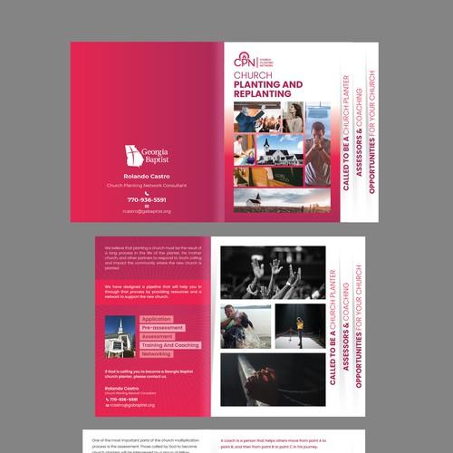Church Planting Network Stair Step Brochure Design