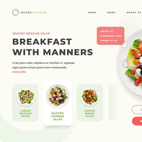 Ostra Kitchen Web Page Design