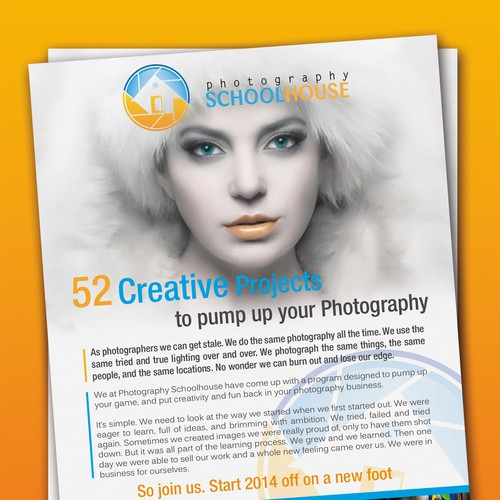 Photography Schoolhouse needs a great new flyer