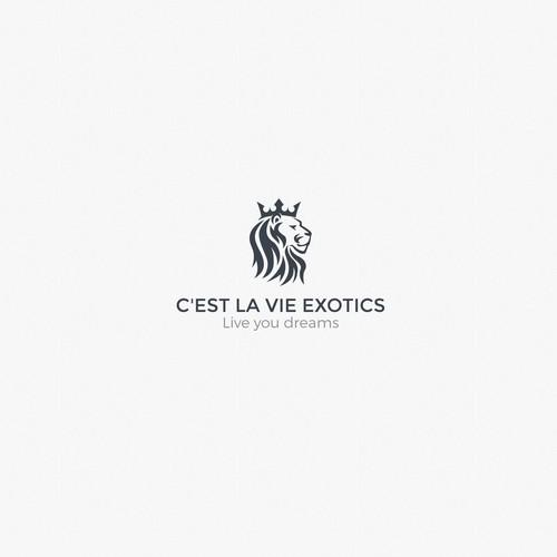 C'est la vie exotics logo design