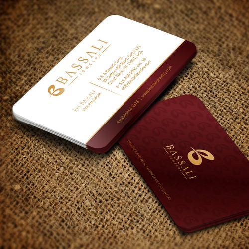 Luxurious, elegant and sophisticated business card and letterhead for Jewelry design House