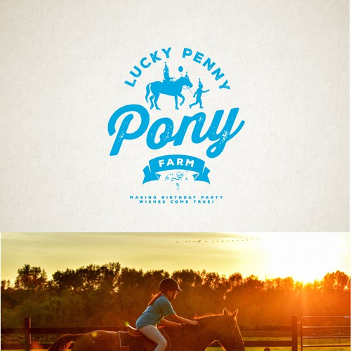 Fun and Professional Logo for Pony Farm