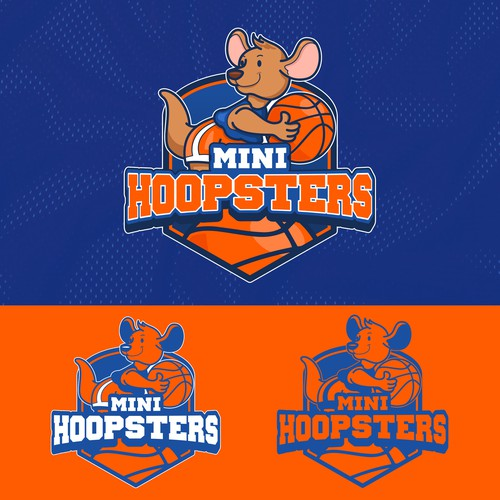 Fun logo for Mini Hoopsters Kids Basketball