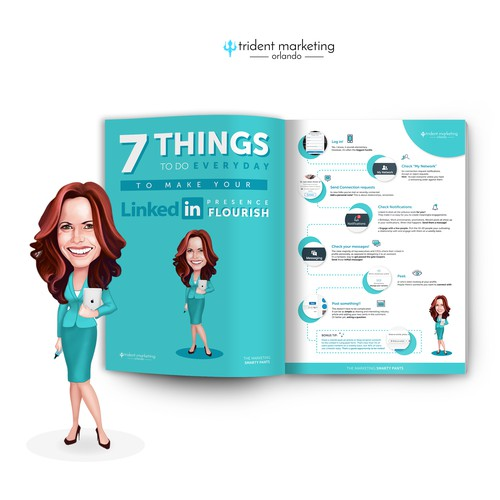 Sleek and Savvy Linked In guide for business professionals