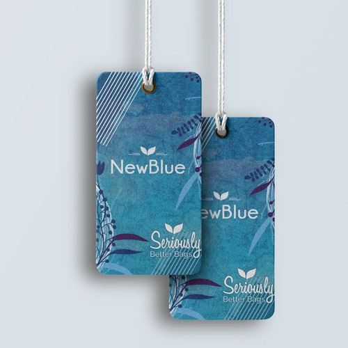 Hang Tag Proposal design for NewBlue's Eco Bag