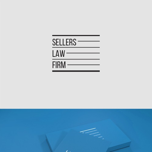 Logo concept for criminal lawyer.