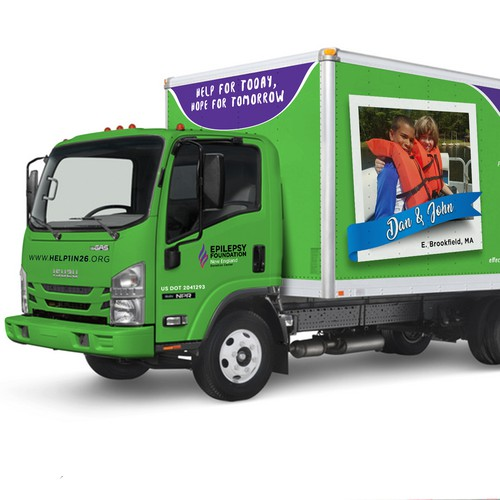 Truck Design for Epilepsy Foundation New England