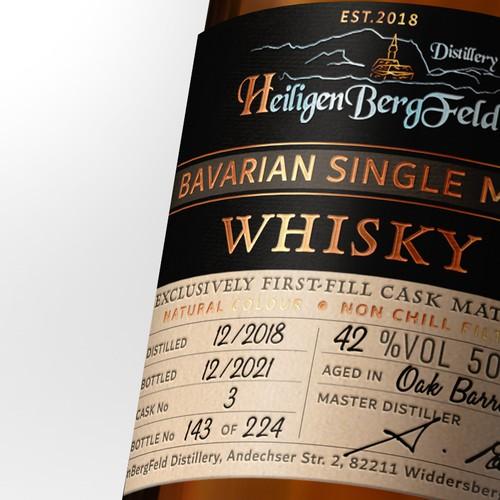 First Single Malt Whisky from HeiligenBergFeld Distillery - Germany