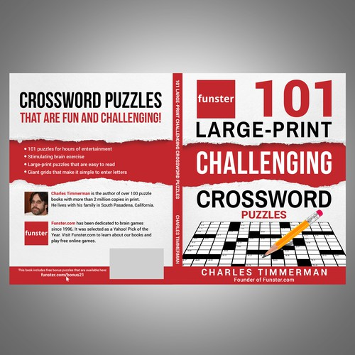 Funster 101 Large-Print Challenging Crossword Puzzles