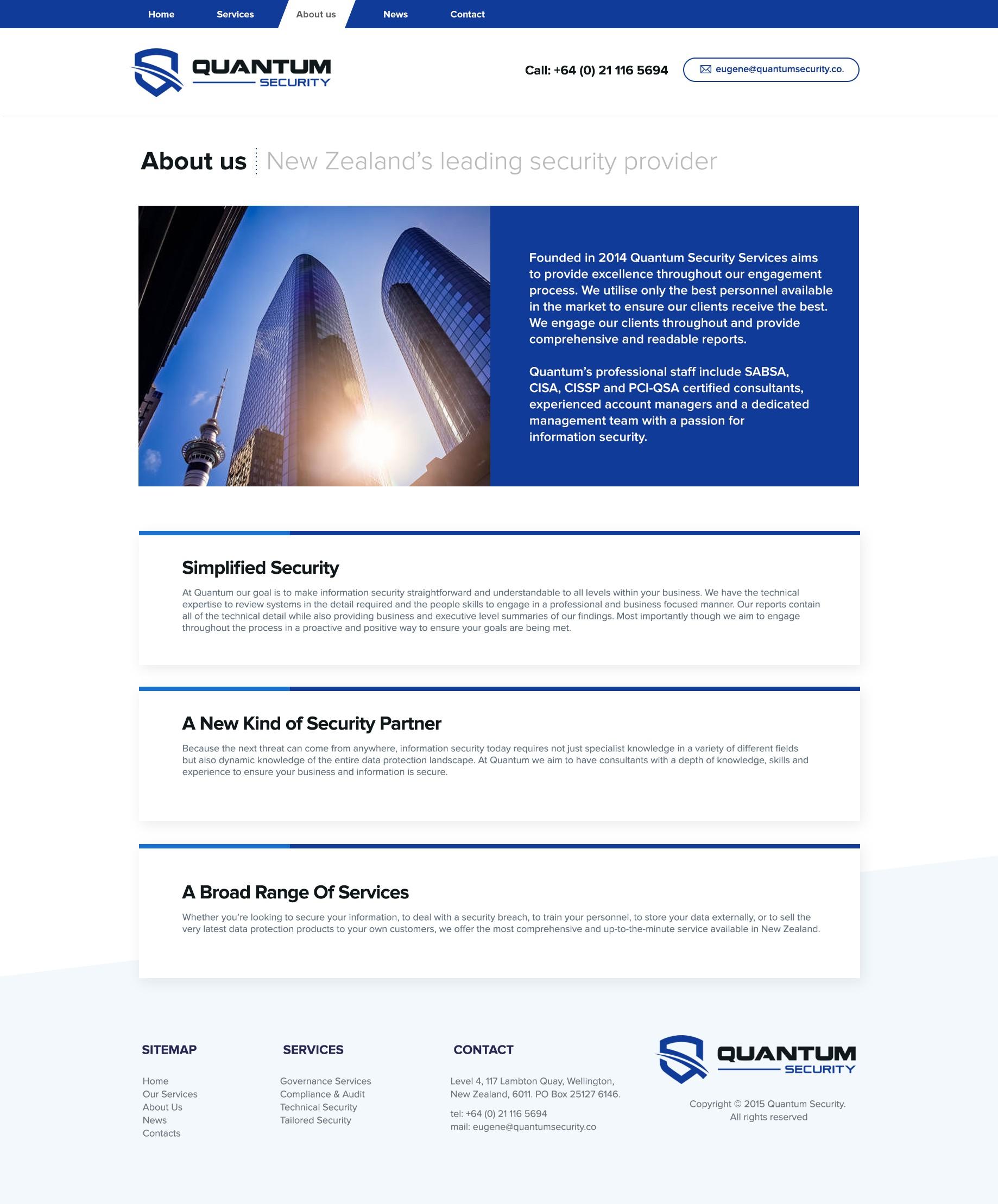 Quantum Security Webpage