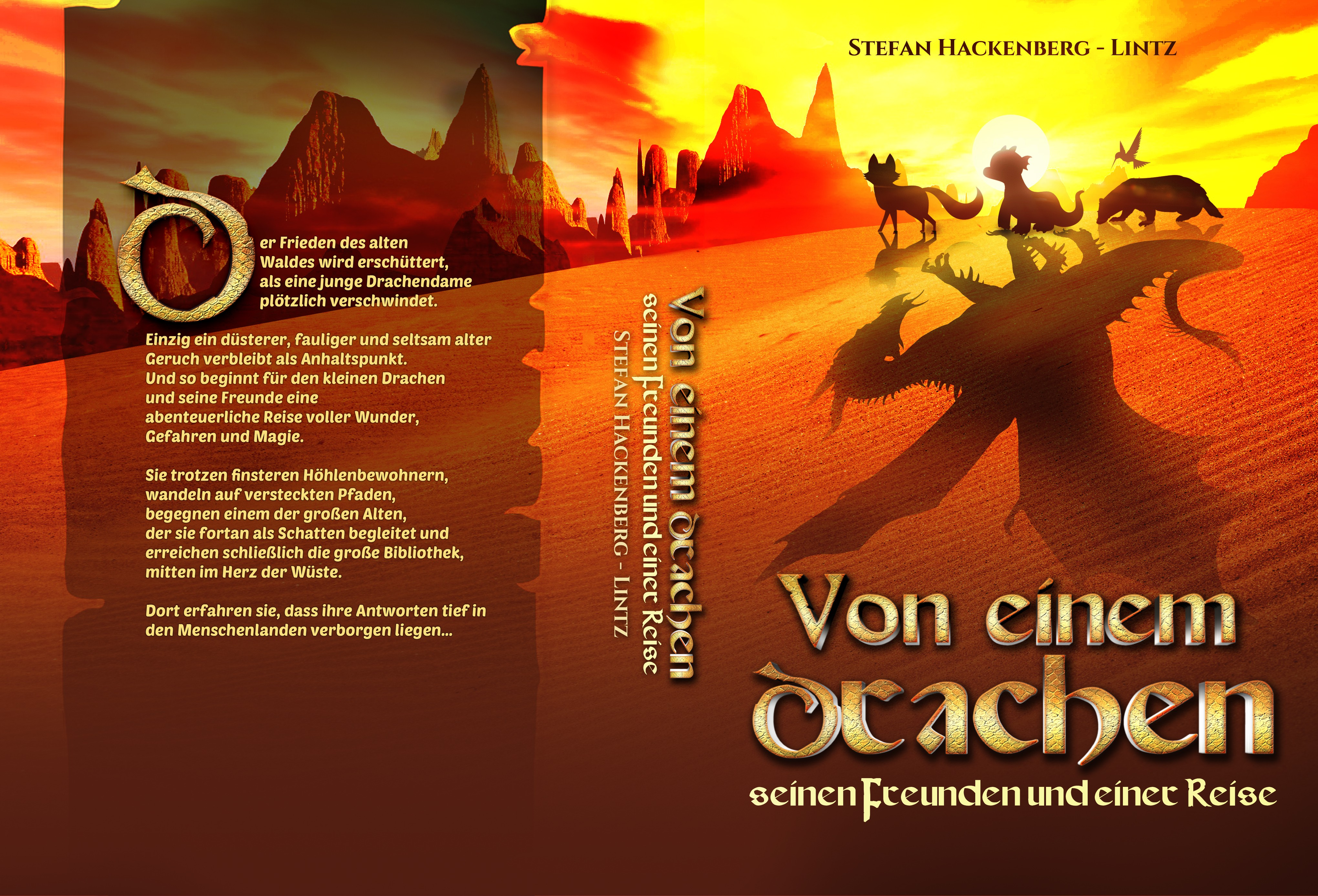 Back cover and spine design
