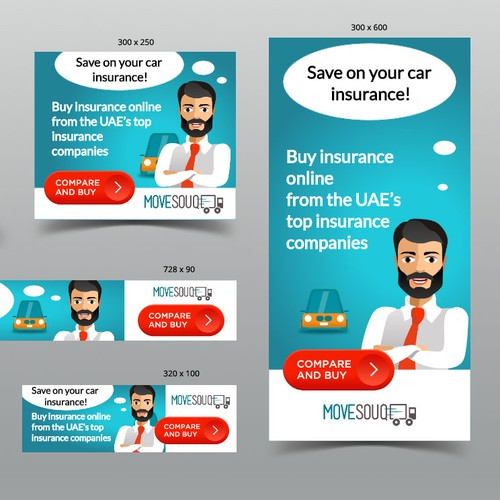 Design a Modern Car Insurance Comparison Flash Campaign