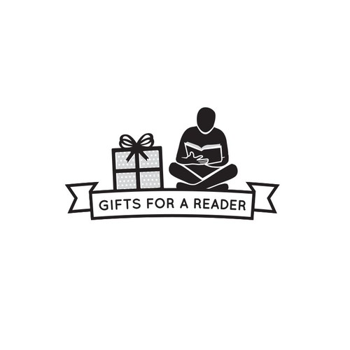 Book reader gifts logo with banner