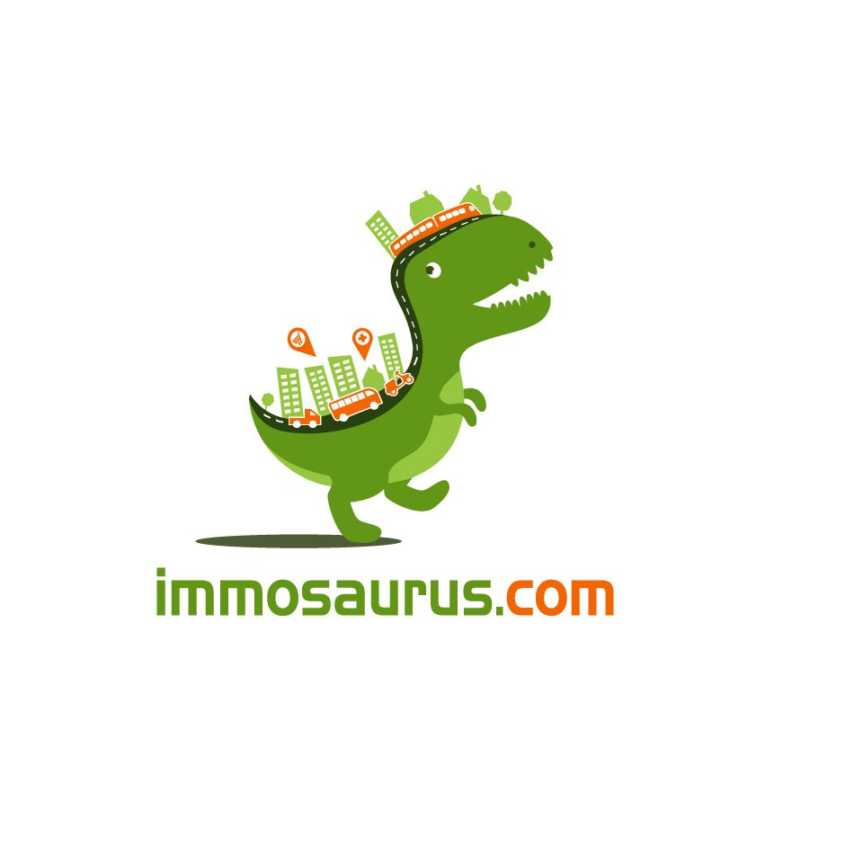 Create a Dinosaurus Mascot for a french startup supplying real-estate & urban data visualization